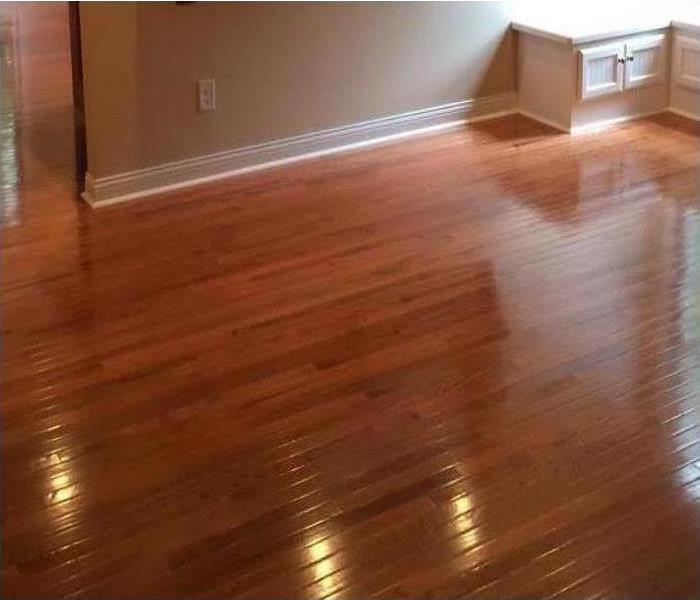 Hard wood flooring restored after water damage